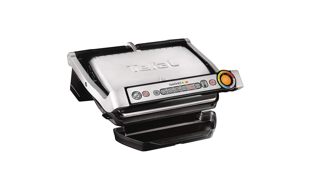Tefal Indoor Electric Grill, 2000 watts, Stainless Steel, GC712D28