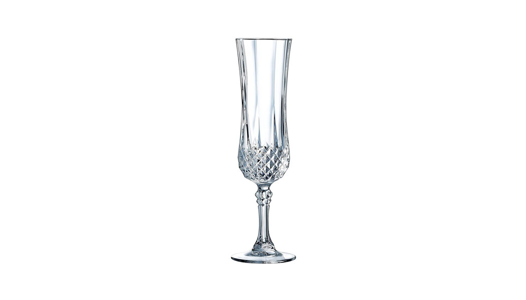 Eclat Cristal D'Arques Longchamp Champagne Flute Crystal Glass, 14 cl, Pack of 6