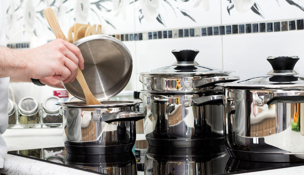 Here are a few handy tips to keep in mind when cooking with stainless steel cookware