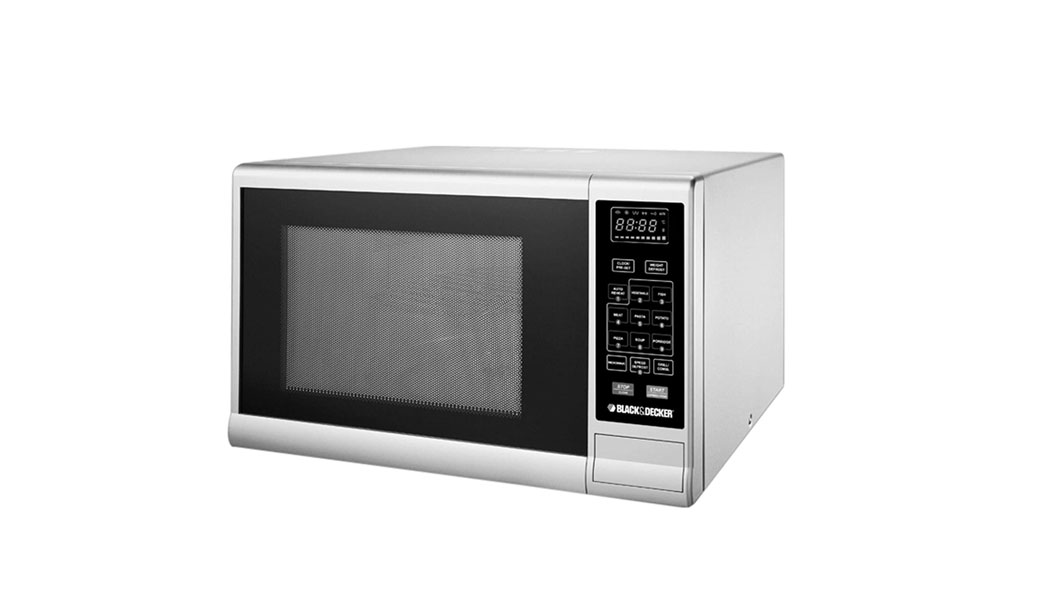 Black+Decker 30 Liter Combination Microwave Oven with Grill, Silver