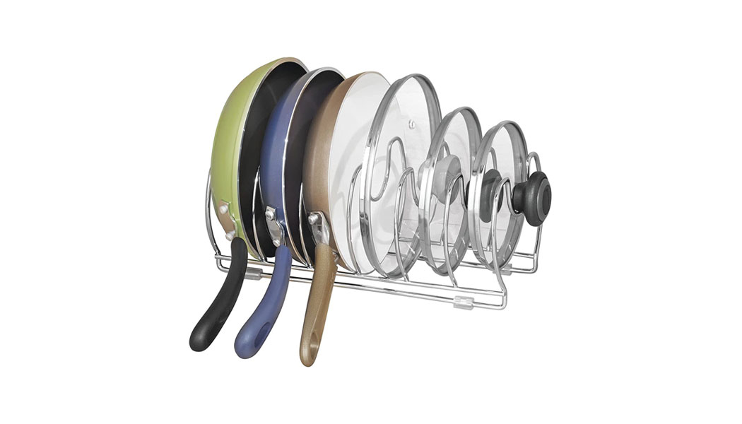 mDesign Pot and Pan Rack - Versatile Kitchen Organiser Suitable for All Homes